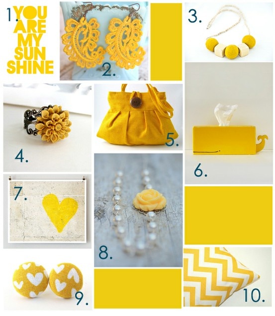 yellow accessories etsy