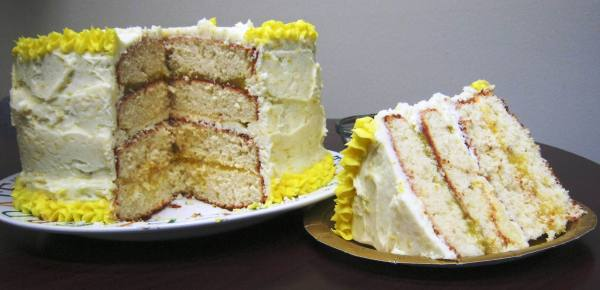 Lemon Layer Birthday Cake