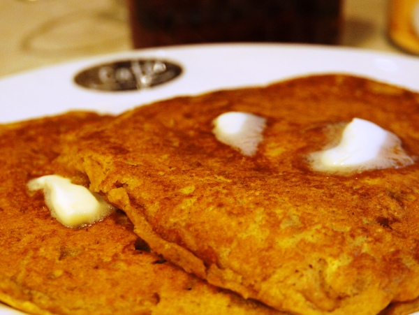 Pumpkin Pancakes are perfect for a fall breakfast or Halloween dinner!
